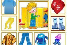 Oblečenie + činnosti