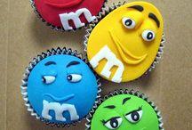 M&M cupcake / M&M