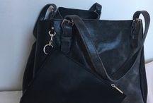 Sac / Sac cuir style Simple Bag avec pochette.