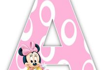 Minnie mouse letters