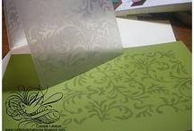 Stamping using cuttlebug folder