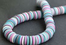 Sequins / Bangles, Necklace and Earring from Polymer Clay