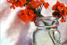 Flowers, fruit & trees / paintings / by Cecily Smith