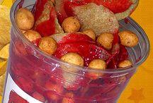 ChamoPapasLocas / Papas preparadas con cacahuate japones, chamoy, y chiitos