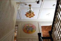 Hardwood ceiling medallions / Hardwood ceiling medallions