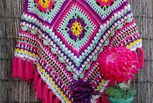 Crochet shawls, ponchos and cloaks