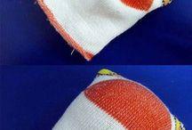 couture avec des chaussette