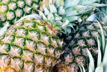 Pineapples / A fruit that looks just as good hanging on the wall as it does hanging out of your mouth!