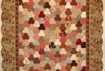 Flow quilt / Handpatched and handquilted by Jeanneke, size 44 x 54.5 inch.