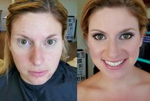 Bride trial sessions / Trial sessions/ before and afters on my lovely brides-to-be!