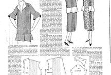 1920s Clothing patterns general