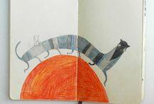 desenhos, ilustração, pintura... / murais / by Mariana Gouveia