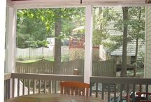 Screened Porches,decks and patios / Decorating ideas for outdoor living.  / by Alandra Hubbard