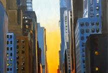 Paintings of New York / Original paintings of New York from Angela Wakefield