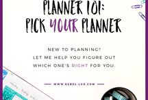Planner Girl 101 / New to the planner community? Not sure where to start? I've got your back! Check out these pins for how to find your planner peace.