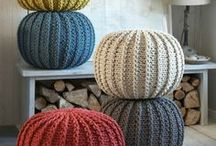 poufs tricotés
