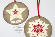 Stampin' Up! - Christmas Tags / Christmas tags made with Stampin' Up! products.