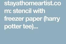 creating freezer paper stencild