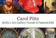 Carol Pitts / Carol is a Stella's Art Galley Artist. She specializes in pottery, painting glassware, and acrylic on canvas.   You can find more of her work at www.StellasArtGallery.com  To purchase any of these items email at StellasArts@gmail.com