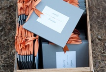 Coral, Gray and Navy Blue Wedding Color Inspirations