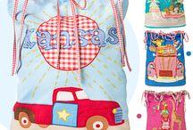 Bolsas Bonitas para Juguetes / Mirad qué bolsas más bonitas para guardar juguetes nos han llegado. Todas hechas en patchwork. ¿Os gustan?