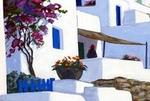 Greek islands for paintings