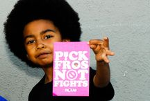 """Fros""""Pick Fros Not Fights"""" / Fro Love * An Online Gallery Of Afros* Buy Pick Fros Tee's HERE http://www.zazzle.com/pick_fros_not_fights_black_tshirt-235377553080254797"""