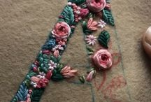 Embroidery : Monogram, letters