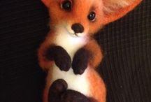 Needle Felting/Felted Foxes