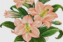 cross stich flower