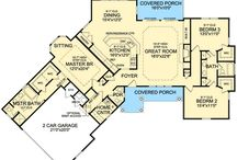 Rustic one story home plans