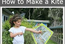 MAKING KITES / Wanna make your own kite?  There are tons of ways to create a kite just the way you like it.