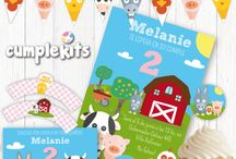 Farm Animals Birthday Party / Farm animals party decorations by Cumplekits. Party printables in Etsy
