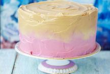 birthday cakes / For kids and adults alike.