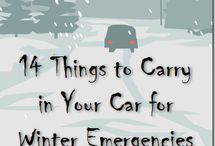 Things for Winter / Winter things to do or carry in your car.