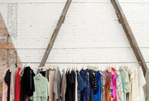 Clothing rail rack