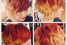 Orange hårfärg