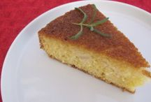 Incredible Cakes / Rosemary Pear Cake:  light, easy & delicious & quick.  The perfect dessert to impress the in laws.