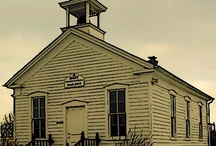 Old Wooden Church & School Buildings / by MacsWoodTurnings