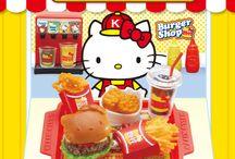 HELLO KITTY「もぐもぐハンバーガーショップ」 / http://www.re-ment.co.jp/products/sanrio_hamburger/