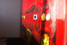 FERRARI SCUDERIA FIRE PAINTING / OIL ON CANVAS 200cm x 150cm