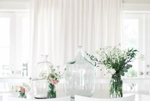 "Q. Design + Jillian Harris / We collaborated with the lovely Jillian Harris to dress her windows in her new home in stunning drapery, hardware, and roman shades.  Our Q2 100% Linen drapery and romans suited her style to a ""t"", and enhanced the soft look and feel of each of her rooms."