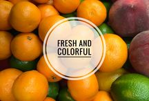 Fresh and colorful / Fresh products that are good for you!