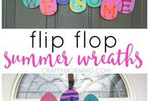 summer decoration flip flops