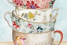 Paintings of Teacups