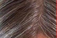 Turn grey hair to original colour.