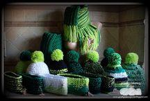 Moje czapki, opaski, szaliki, chusty, rękawice / na szydełku