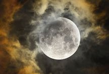 Dark moon and lightning