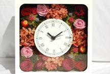 Flower clock / Flower Design Interior Clock・フラワークロック