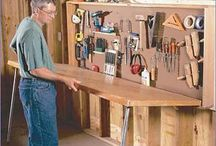 work bench / working place / How to equip the workplace. Tools for work.